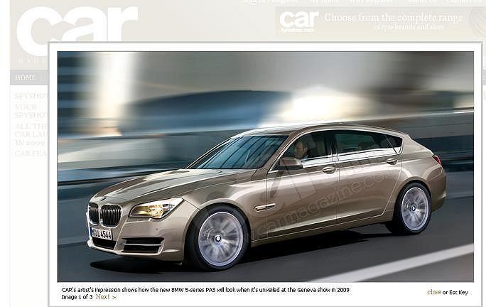 Wizja grafika magazynu CAR - BMW serii 5 PAS zaprojektowany przez van Hooydonka będzie wyglądał bardzo podobnie