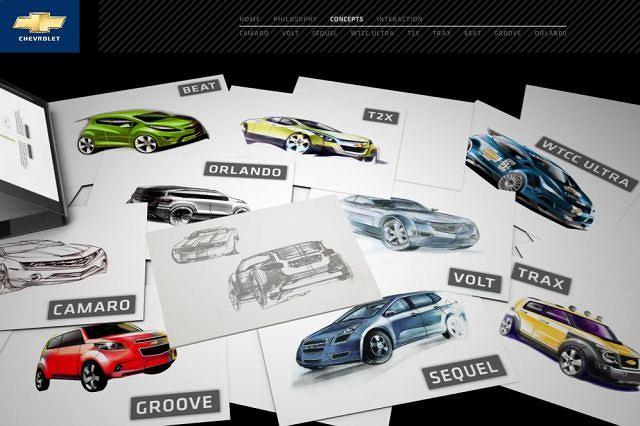 Strona Chevroleta poświęcona stylistyce jego modeli koncepcyjnych