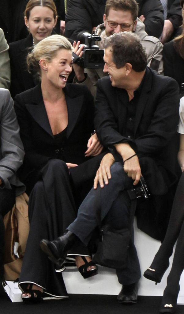 Kate Moss na pokazie Karla Lagerfelda.
