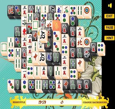 Czarno - biały mahjong