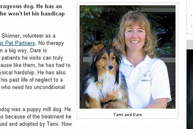 Dzielny pies i jego właścicielka fot. www.examiner.com