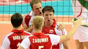 Piotr Gruszka i Piotr Gacek podczas meczu z Bułgarią