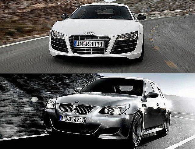 Audi R8 i BMW M5