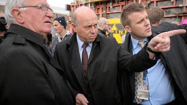 Antoni Piechniczek i Grzegorz Lato na budowie Stadionu Narodowego