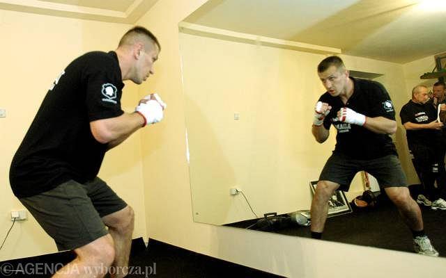 Tomasz Adamek podczas treningu