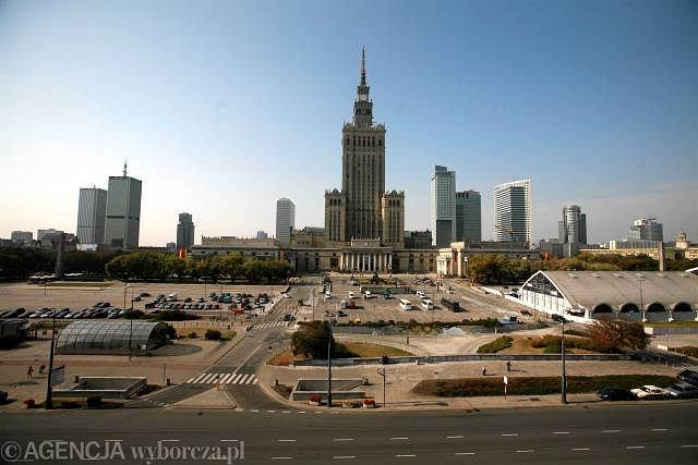 Widok na miasto od ulicy Marszałkowskiej