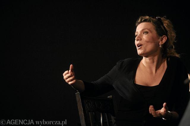 Joanna Trzepiecińska podczas otwarcia