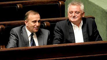 Grzegorz Schetyna i Mirosław Drzewiecki w ławach rządowych. Dzień później Mariusz Kamiński złoży wizytę Donaldowi Tuskow