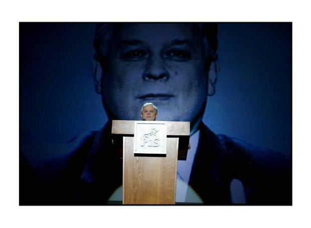 Lech Kaczynski, kandydat na prezydenta, na Konwencji Krajowej PiS, Warszawa 2005 r.