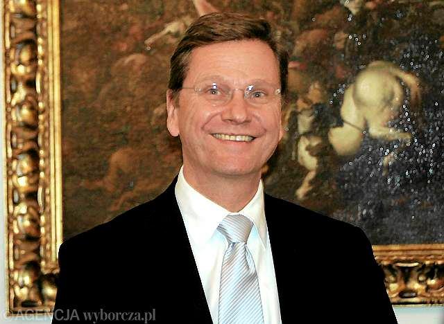 Guido Westerwelle, szef MSZ Niemiec otwarcie przyznaje się do swojej orientacji