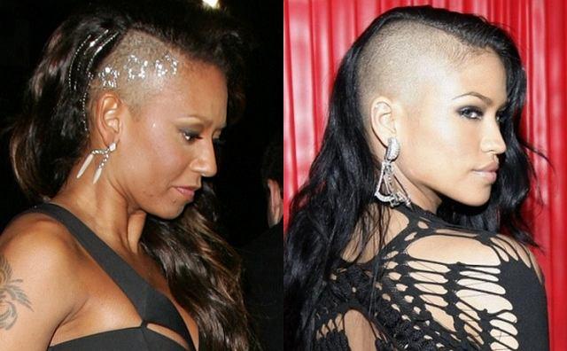 Kilka miesięcy temu Cassie zaskoczyła wszystkich pojawiając się publicznie z wygolonymi włosami. Teraz taki prawie taki sam fryz sprawiła sobie Mel B. Która z nich prezentuje się lepiej?