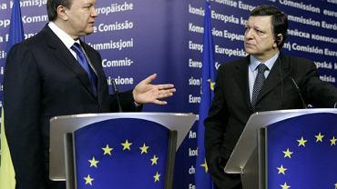 Prezydent Ukrainy Wiktor Janukowycz i przewodniczący Komisji Europejskiej Jose Manuel Barroso