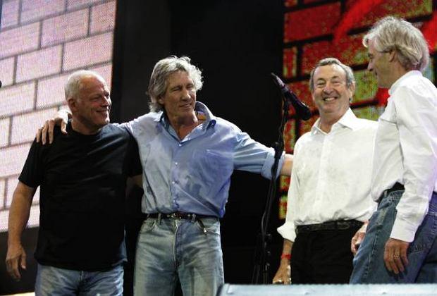 Dave Gilmore, Roger Waters, Nick Mason i Rick Wright - członkowie Pink Floyd w 2005 roku