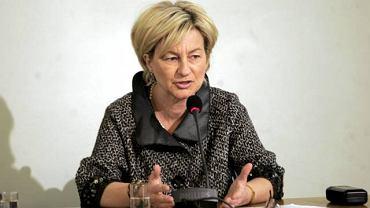 Honorata Kaczmarek podczas przesłuchania przez komisję śledczą