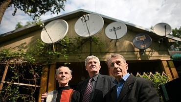 Mieszkańcy osiedla (od lewej): Józef Stańczyk, Janusz Łagowski, Zdzisław Kaleta
