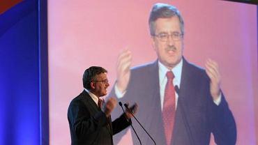 Komorowski na konwencji PO: Poczułem wielką dobrą siłę poparcia Platformy
