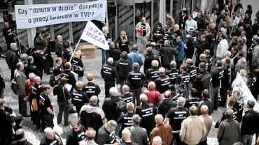 26 maja 2010 r. Pikieta pracowników TVP przeciwko zwolnieniom