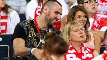 Marcin Gortat na meczu siatkówki