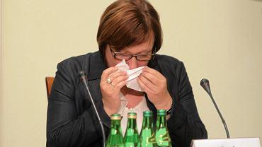 Beata Kempa płacze na posiedzeniu komisji hazardowej