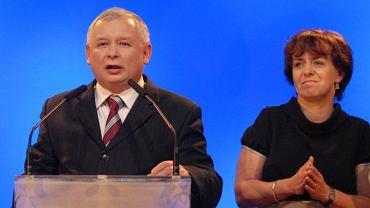 Jarosław Kaczyński i Joanna Kluzik Rostkowska