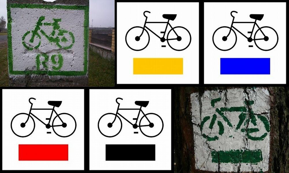 Znaki szlaków rowerowych w Polsce