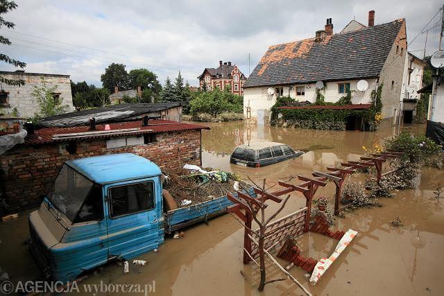 Sierpniowa powódź pod Łęknicą, woj. lubuskie