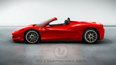 Ferrari 458 Italia Spyder Artists Rendering