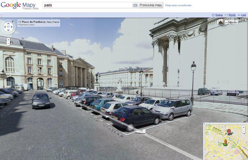 Zdjęcia z ulic Paryża w Google Street View