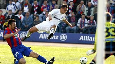 Dawid Jarka w barwach Górnika. Mecz z Polonią z 2007 roku