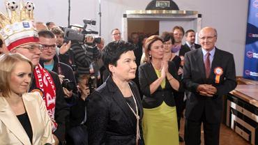 Hanna Gronkiewicz-Waltz w sztabie wyborczym