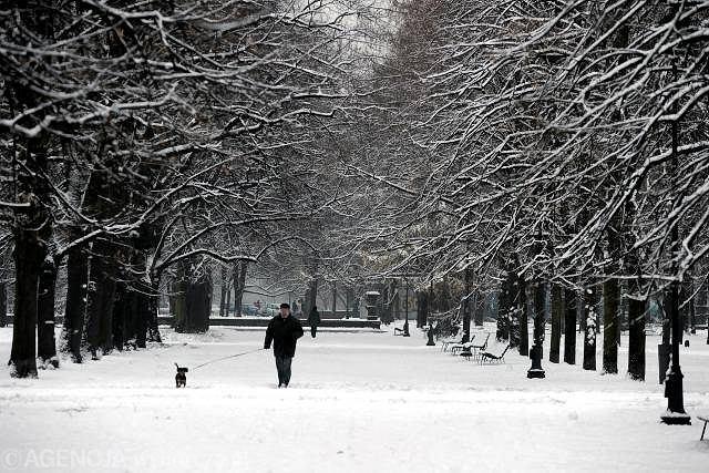W Warszawie śnieg spadł już w weekend
