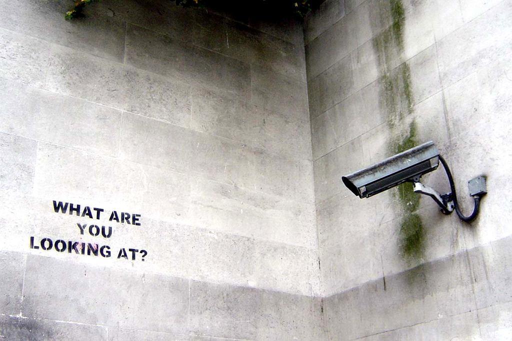 Grafitti Banksy'ego: szablon