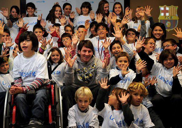 Leo Messi na spotkaniu z dziećmi