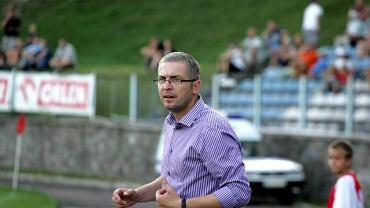 Wojciech Tarnowski prowadzi teraz piłkarzy Sokoła Ostróda