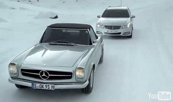 Häkkinen i Schumacher w reklamie Mercedesa