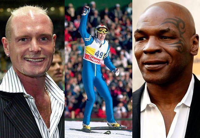 Paul Gascoigne, Matti Nykaenen, Mike Tyson