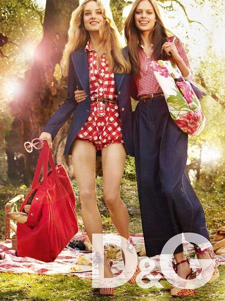 kampania D&G wiosna/lato 2011 - Jessica Clarke i Mariana Idzkowska