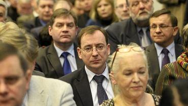 Mariusz Kamiński podczas sobotniego posiedzenia Rady Politycznej PiS
