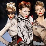 Modne fryzury z lat 20. na pokazie Diora w Paryżu