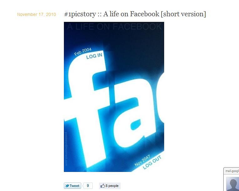 1picstory - najkrotsza biografia wg facebooka