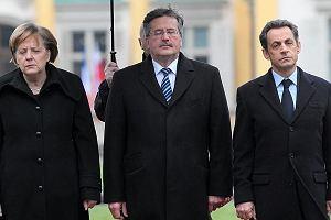 Angela Merkel, Bronisław Komorowski, Nicolas Sarkozy.