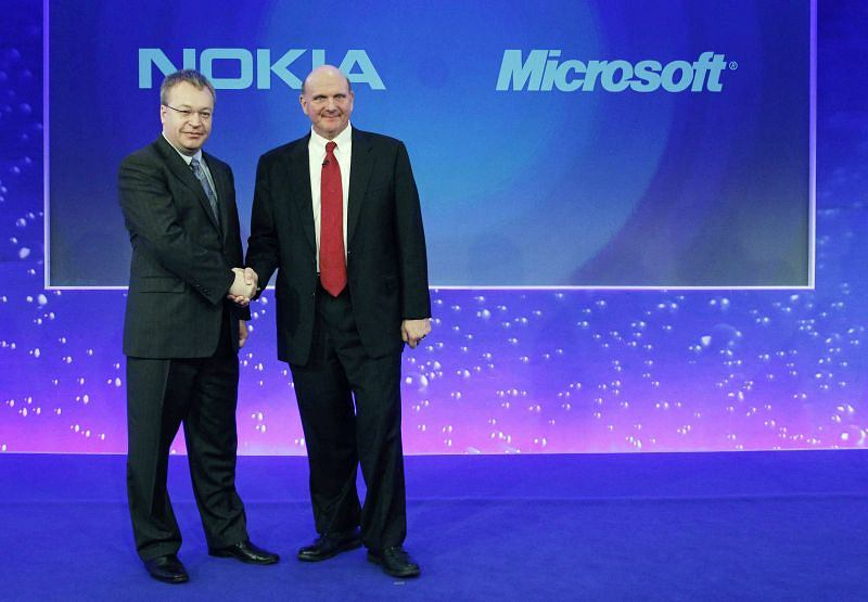 Stephen Elop (Nokia) i Steve Ballmer (Microsoft)
