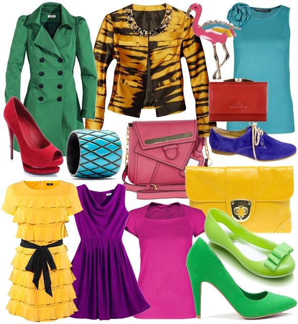 Trend w stylu gwiazd - nasycone kolory, kolory, ciuchy, trendy, gwiazdy, fluo, galeria, dodatki