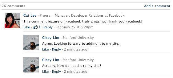 Nowa wtyczka Facebooka umożliwia podpięcie komentarzy FB na zewnętrznych stronach