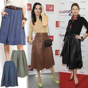 spódnice w stylu lat 50-tych, lata '50, gwiazdy, moda, trendy