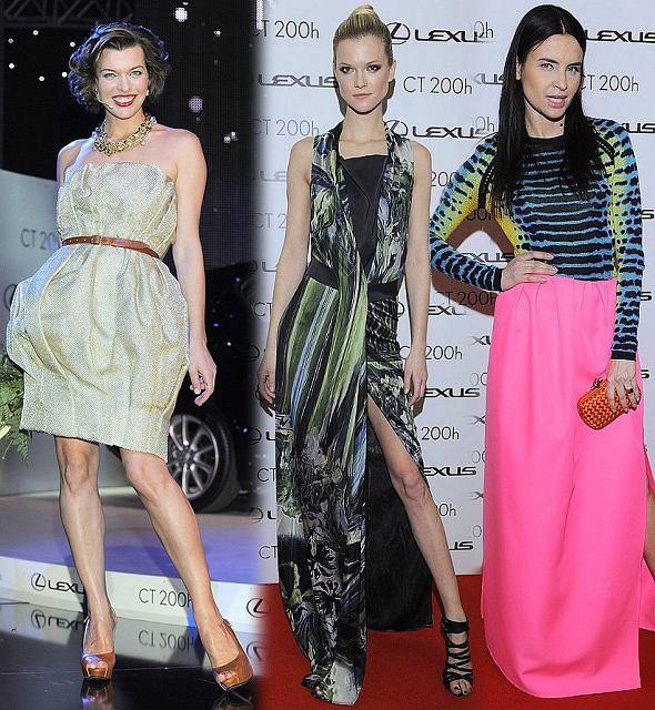 Gwiazdy na imprezie Lexus Fashion Night 6 - Milla Jovovich, Kasia Struss, Joanna Horodyńska