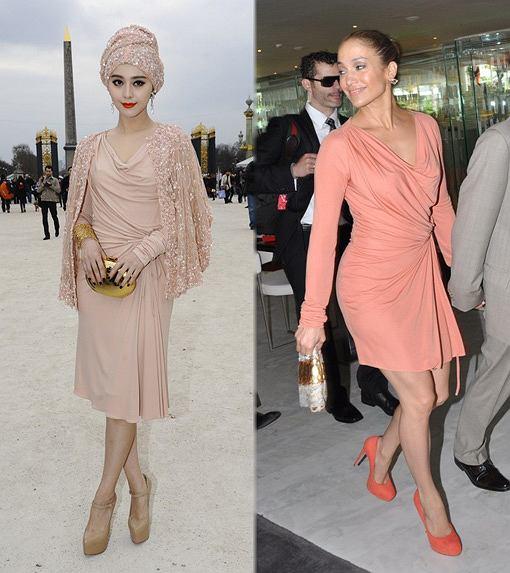 Fan Bing Bing i Jennifer Lopez w sukience Elie Saab