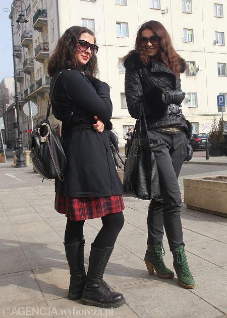 1) spódnica - Papaya, buty - Liesta, plecaczek - Marks & Spencer 2) buty - prezent z Włoch, spodnie - Mango, kurtka i torba - prezenty z USA, rękawiczki - Emporio Armani, opaska - vintage