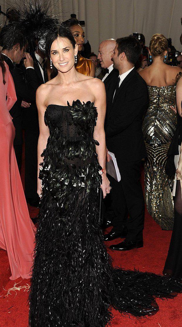 Actress Demi Moore arrives at the Metropolitan Museum of Art Costume Institute gala, Monday, May 2, 2011 in New York.  (AP Photo/Evan Agostini)