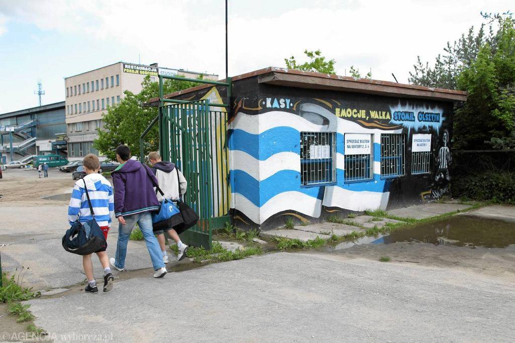 Kasa biletowa pod stadionem przy alei Piłsudskiego